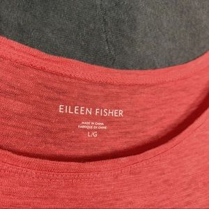 Dresses - Eileen Fisher Boatneck Hemp Slub Dress Coral L